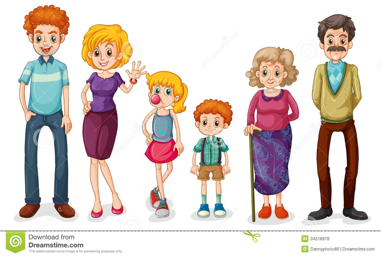 Clipart images of family members vector library stock Family members clipart 1 » Clipart Station vector library stock