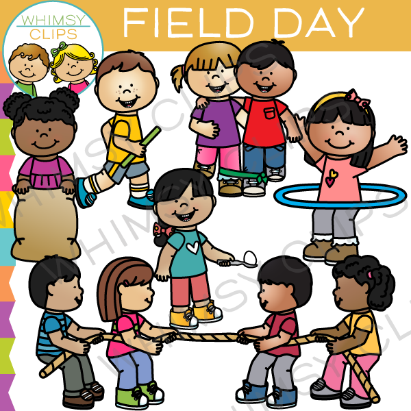 Clipart images of field day at school image black and white School Field Day Clip Art , Images & Illustrations | Whimsy Clips ® image black and white