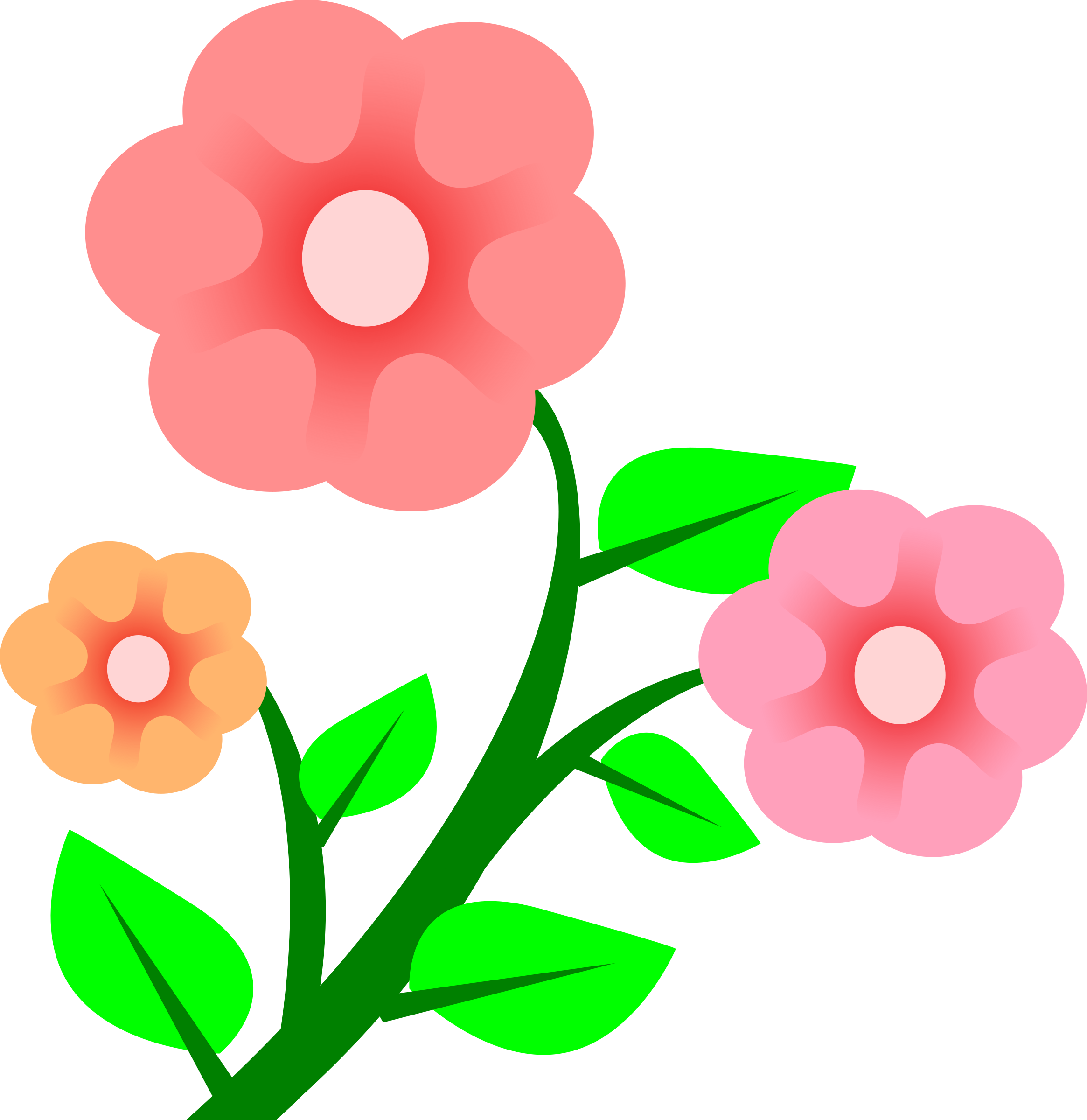 Dancing flower clipart