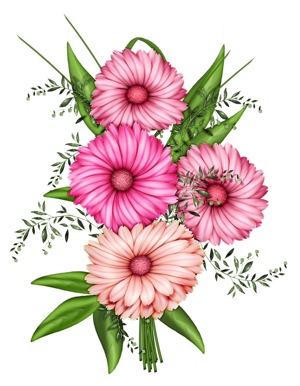 Flower painting clipart