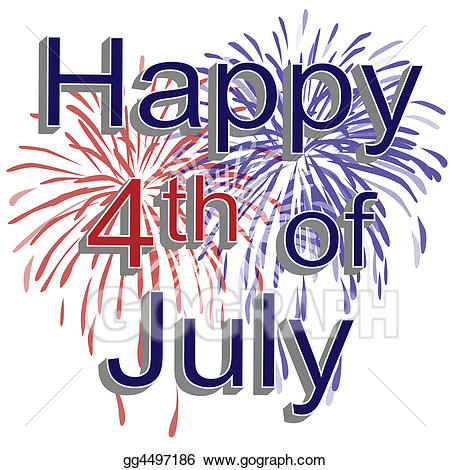 Clipart images of fourth of july fireworks picture royalty free Stock Illustrations - Happy 4th of july fireworks. Stock Clipart ... picture royalty free