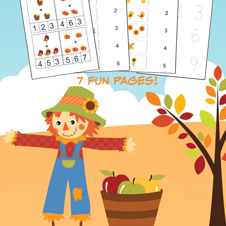 Clipart images of fun math sheets image library library Fall Math Worksheets for Pre-K to 1st Grade - Frugal Mom Eh! image library library