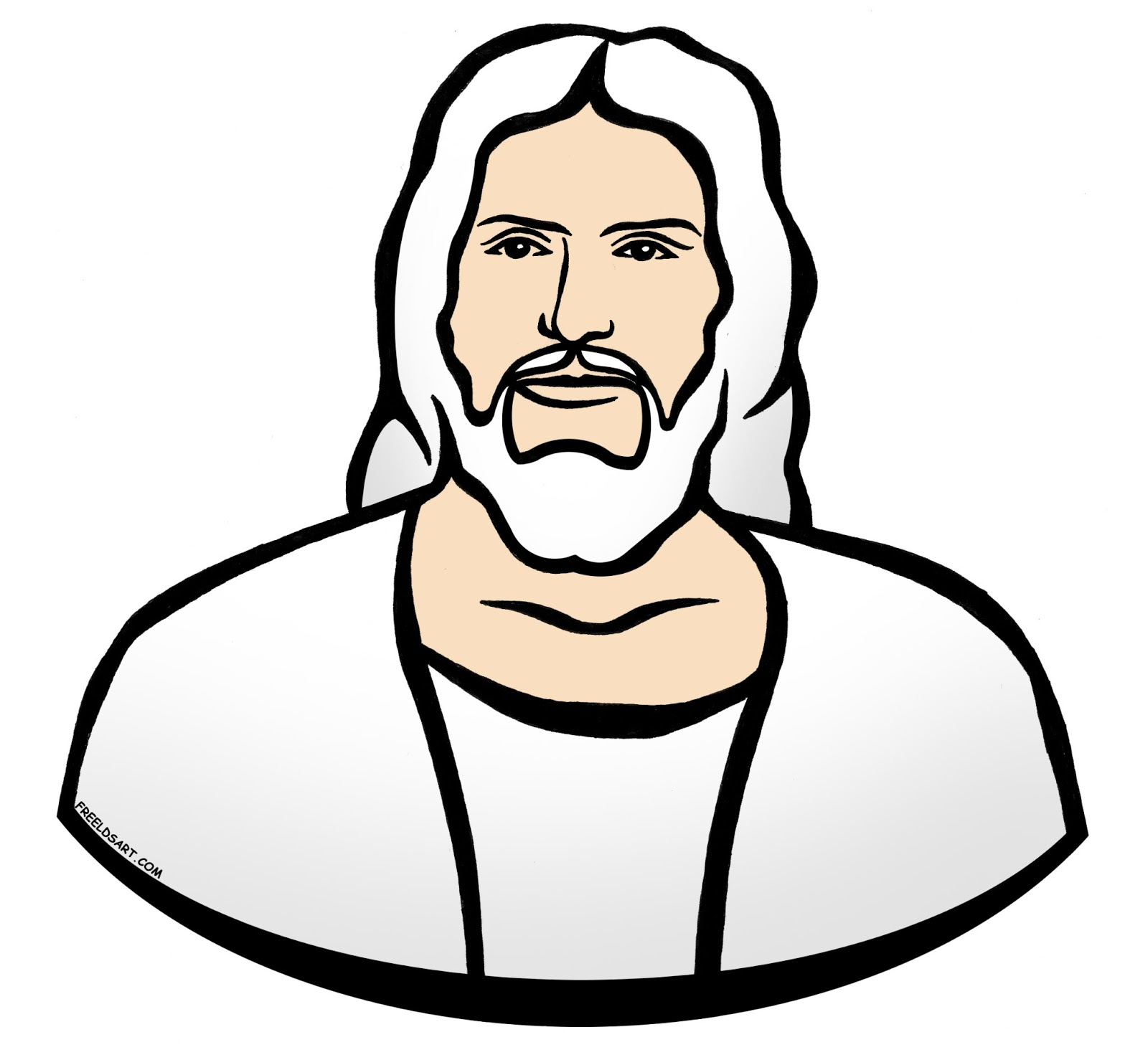Lds black and white clipart of heavenly father