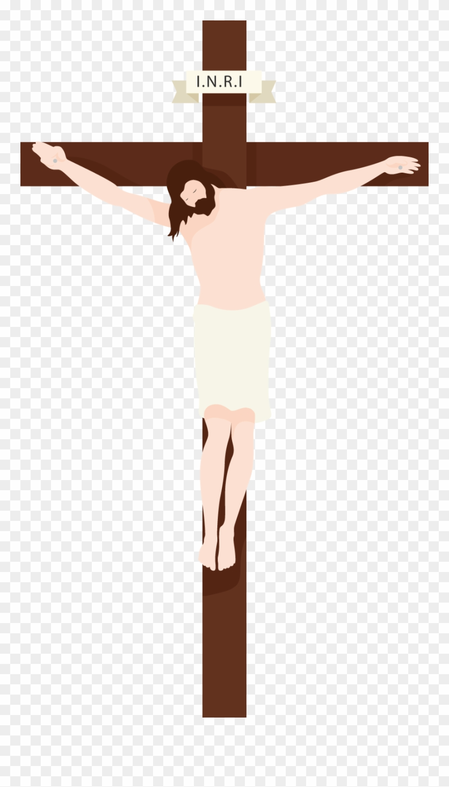 Clipart images of jesus on the cross picture black and white Banner Free Download Collection Of Transparent High - Jesus On The ... picture black and white