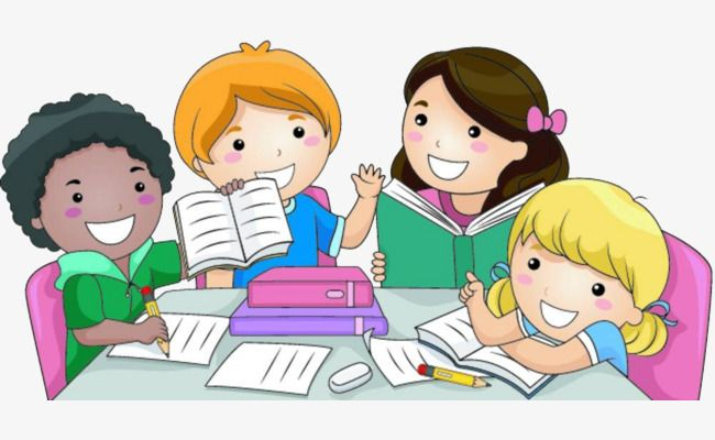 Clipart images of kids doing school work clipart black and white stock The Children Do Homework Together, Children Clipart, Children ... clipart black and white stock