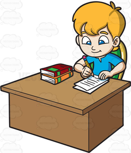 Clipart images of kids doing school work banner royalty free library Free Clipart Of Child Doing Homework | Free Images at Clker.com ... banner royalty free library