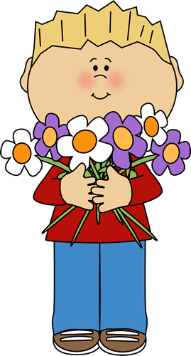 Clipart images of kids hold bouquets of flowers clip art library download Flower Clip Art - Flower Images clip art library download