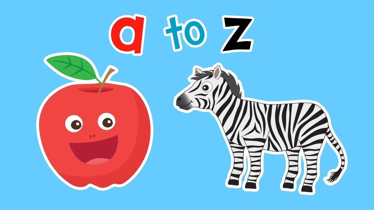 Clipart images of kids reading by or on apples clip art transparent Apple to Zebra   BACK TO SCHOOL ALPHABET   Mother Goose Club Kid Songs clip art transparent