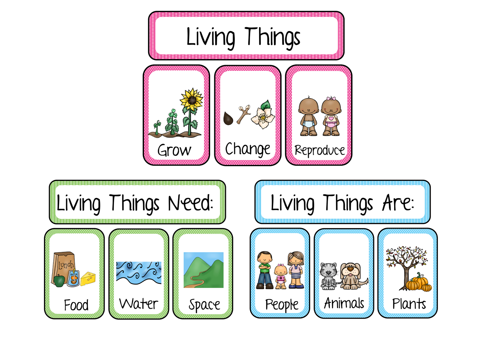Clipart images of living and nonliving things clip freeuse download Zoology/Botany: Living & Non-Living – Maha Montessori clip freeuse download
