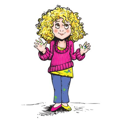 Clipart images of messy hair on a little girl svg free download Character design for children book Messy Tessy by thelogoboutique ... svg free download