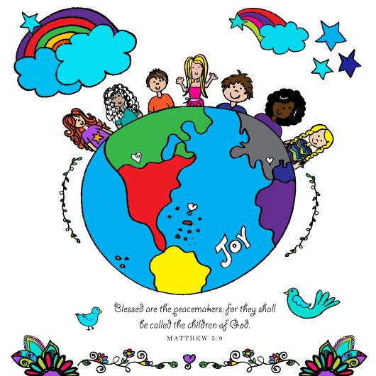 Clipart images of peacemaking between people jpg stock Words from Jesus free clipart free digital download: Blessed are the ... jpg stock