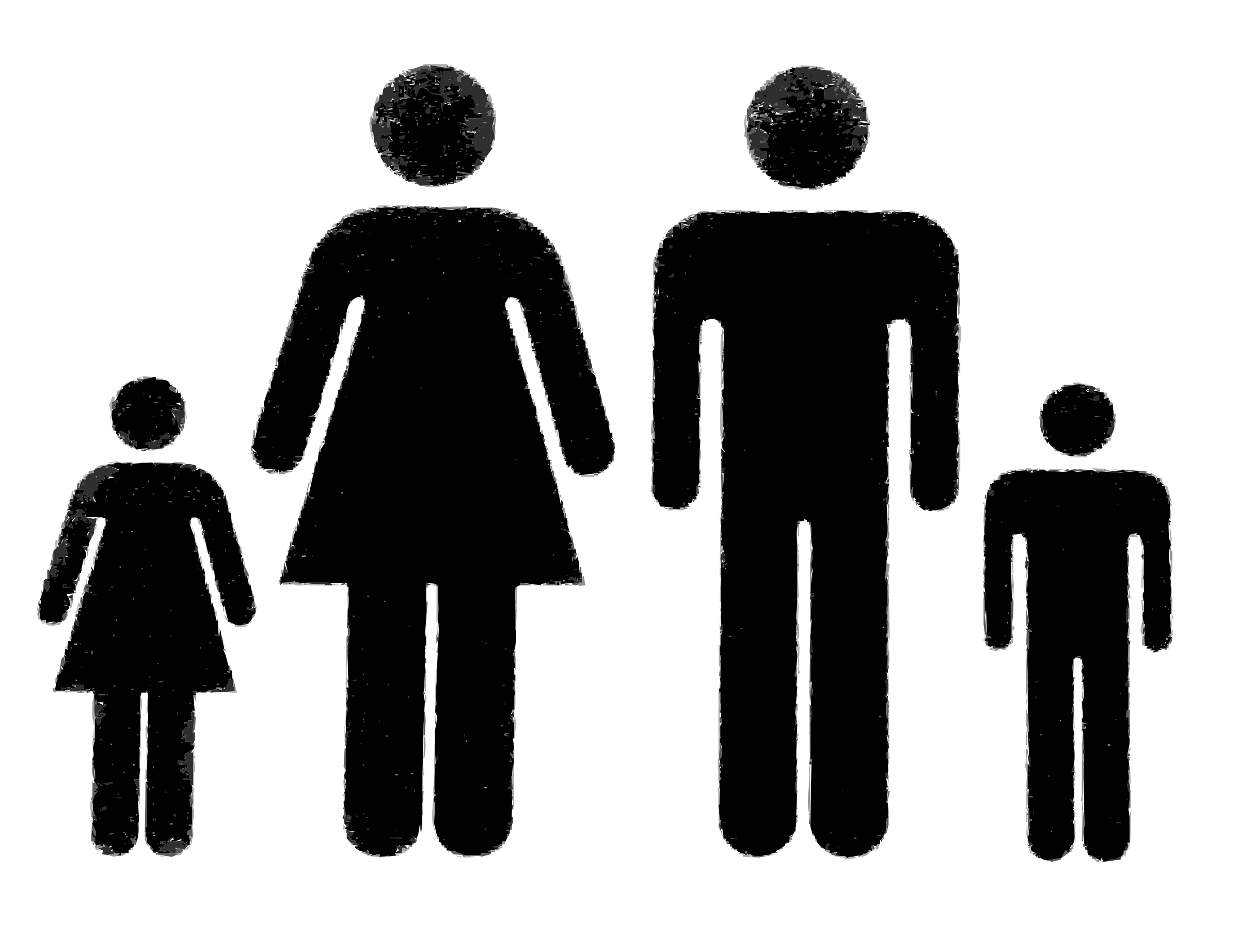 Clipart images of people vector royalty free library Family of people Vector Clipart image - Free stock photo - Public ... vector royalty free library
