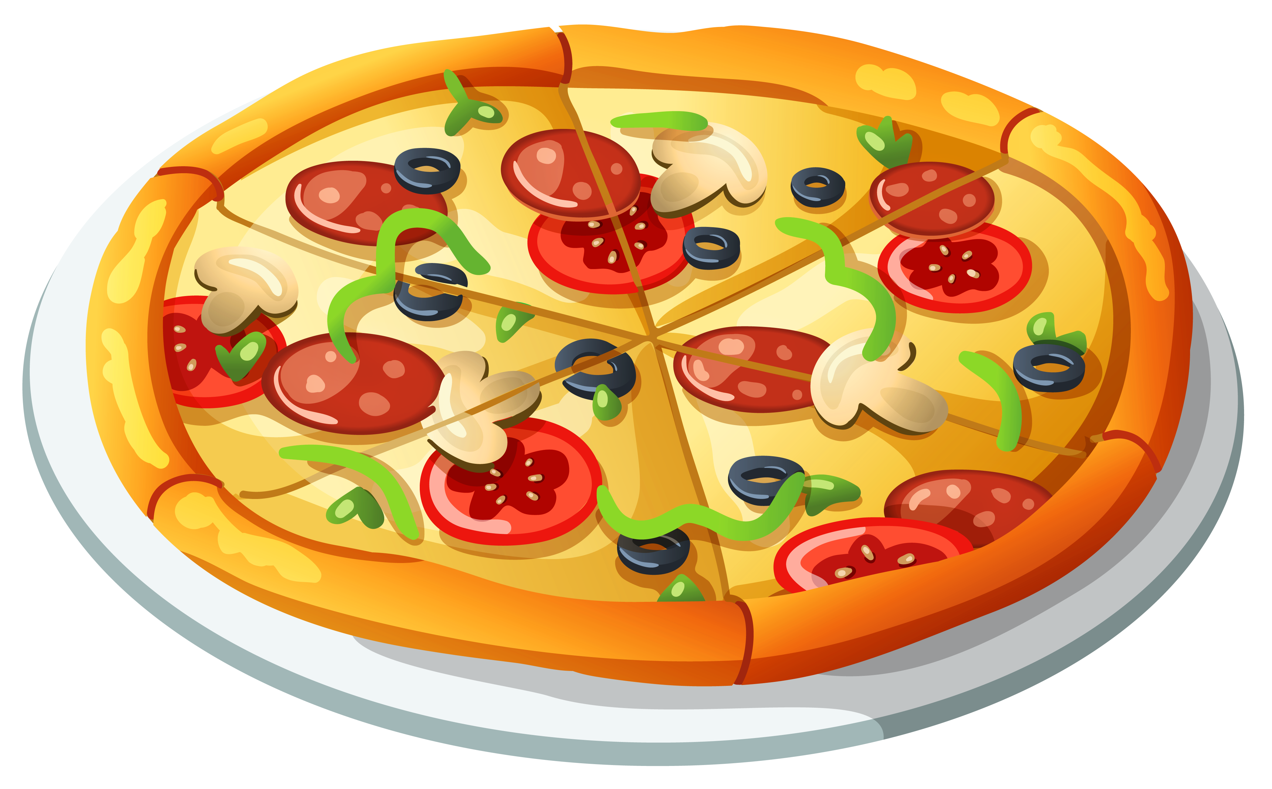 Pizza clipart png clip transparent library Pizza PNG Vector Clipart | Gallery Yopriceville - High-Quality ... clip transparent library