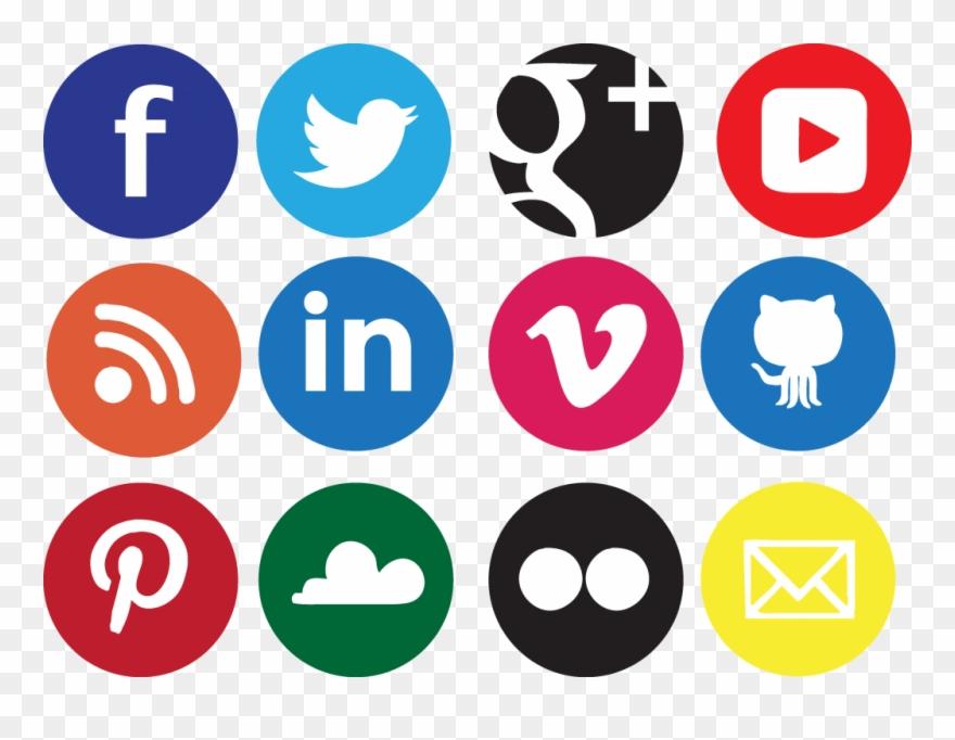 Social media logo clipart transparent clip free download Yashilanka/social Sharing Buttons - Transparent Background Social ... clip free download