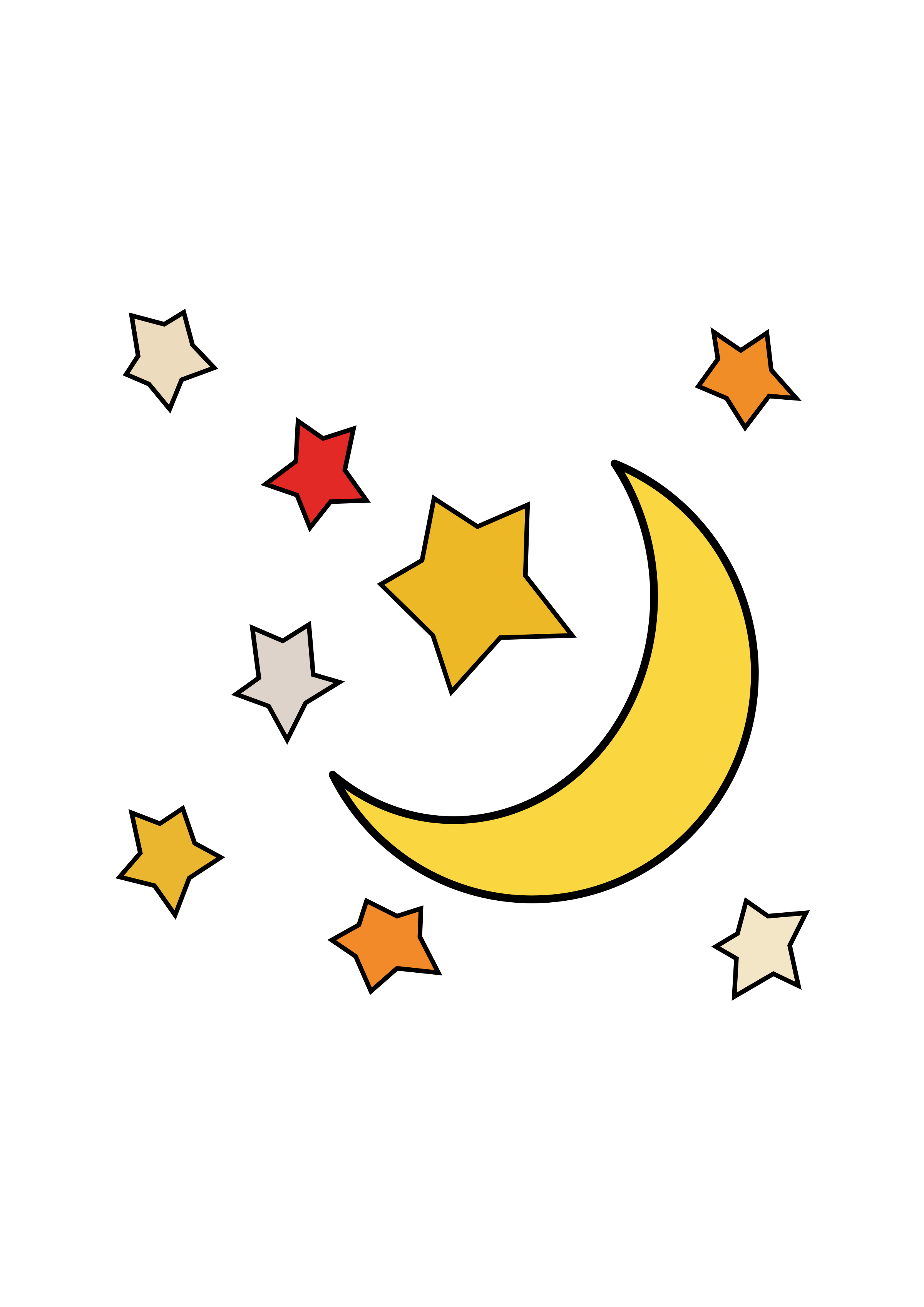 Sun moon and stars clipart