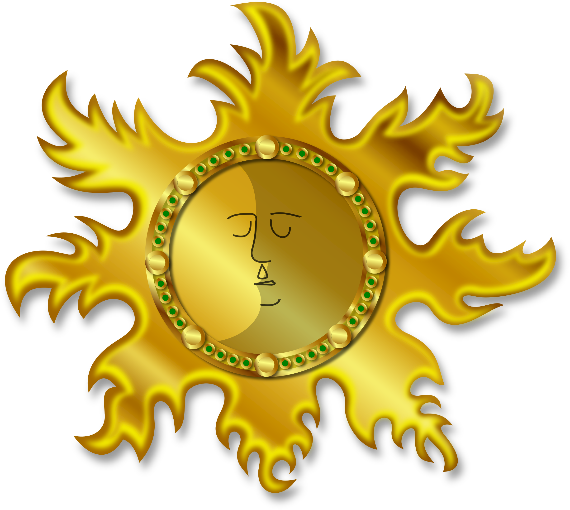 Sun and moon clipart image freeuse Clipart - Sun and Moon image freeuse