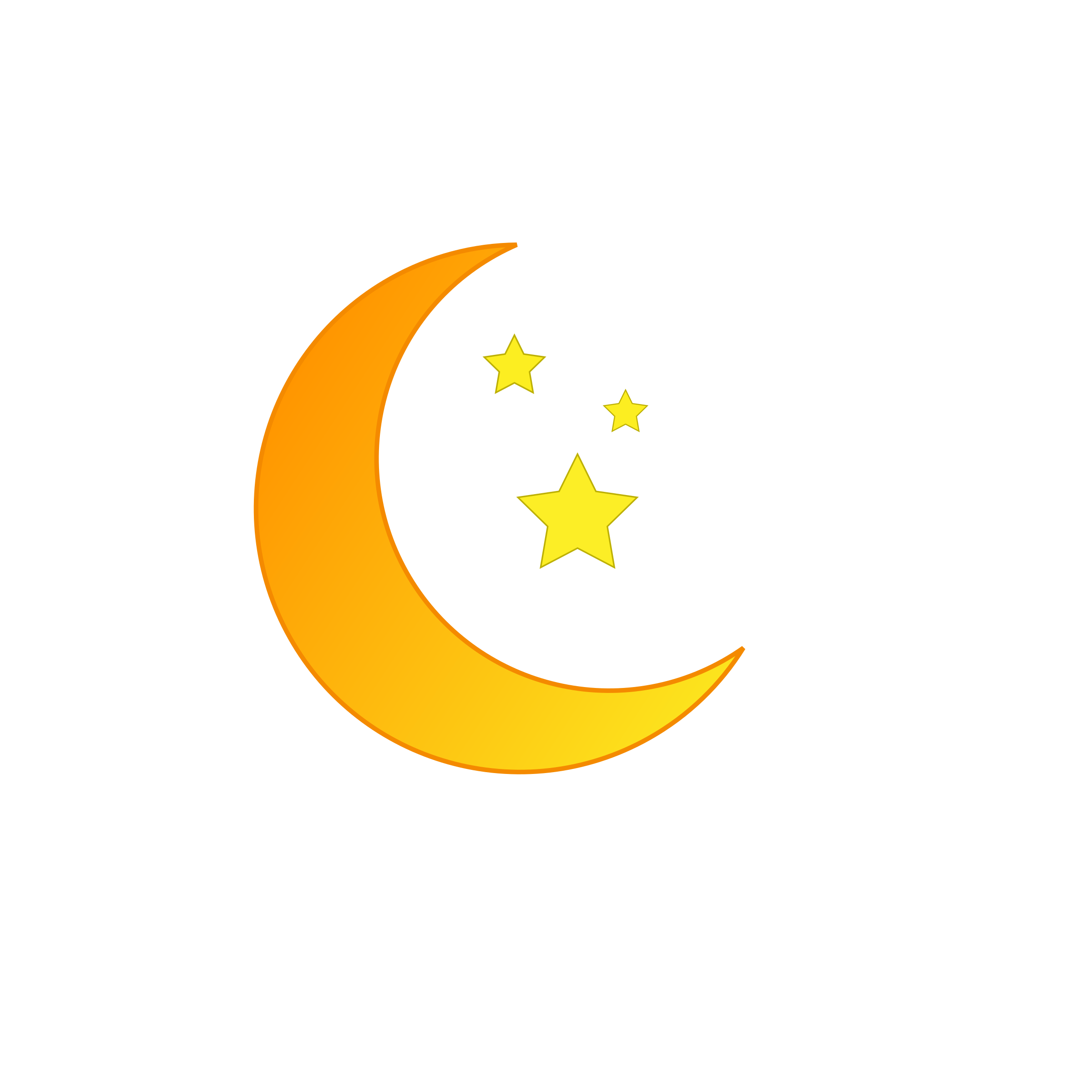 Moon and star clipart svg black and white Moon and Stars - Orange Icons PNG - Free PNG and Icons Downloads svg black and white