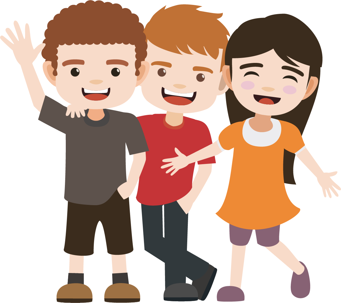 Clipart images of symbols kids of friendships image freeuse stock Free PNG Happy Friendship Day | Konfest image freeuse stock