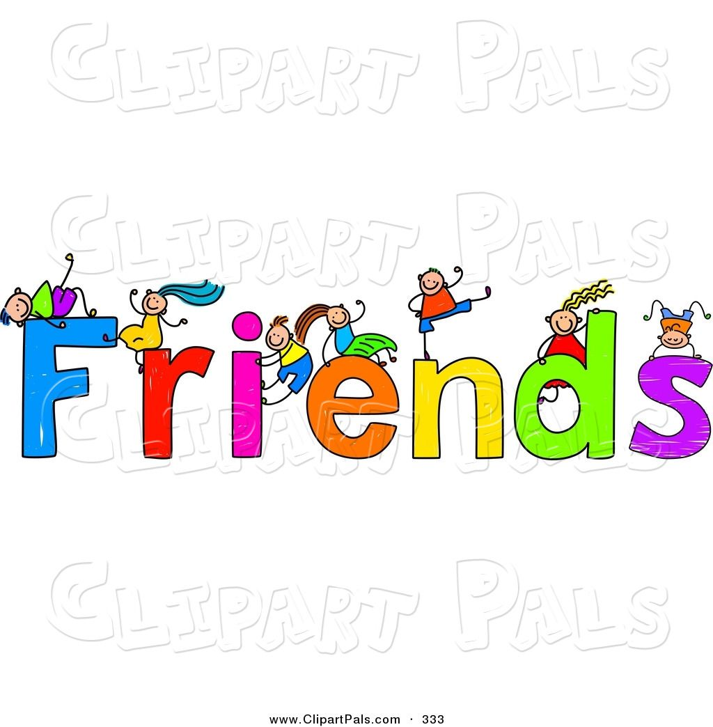 Clipart images of symbols kids of friendships vector library library Free Friendship Clip Art | Pal Clipart of a Children with FRIENDS ... vector library library