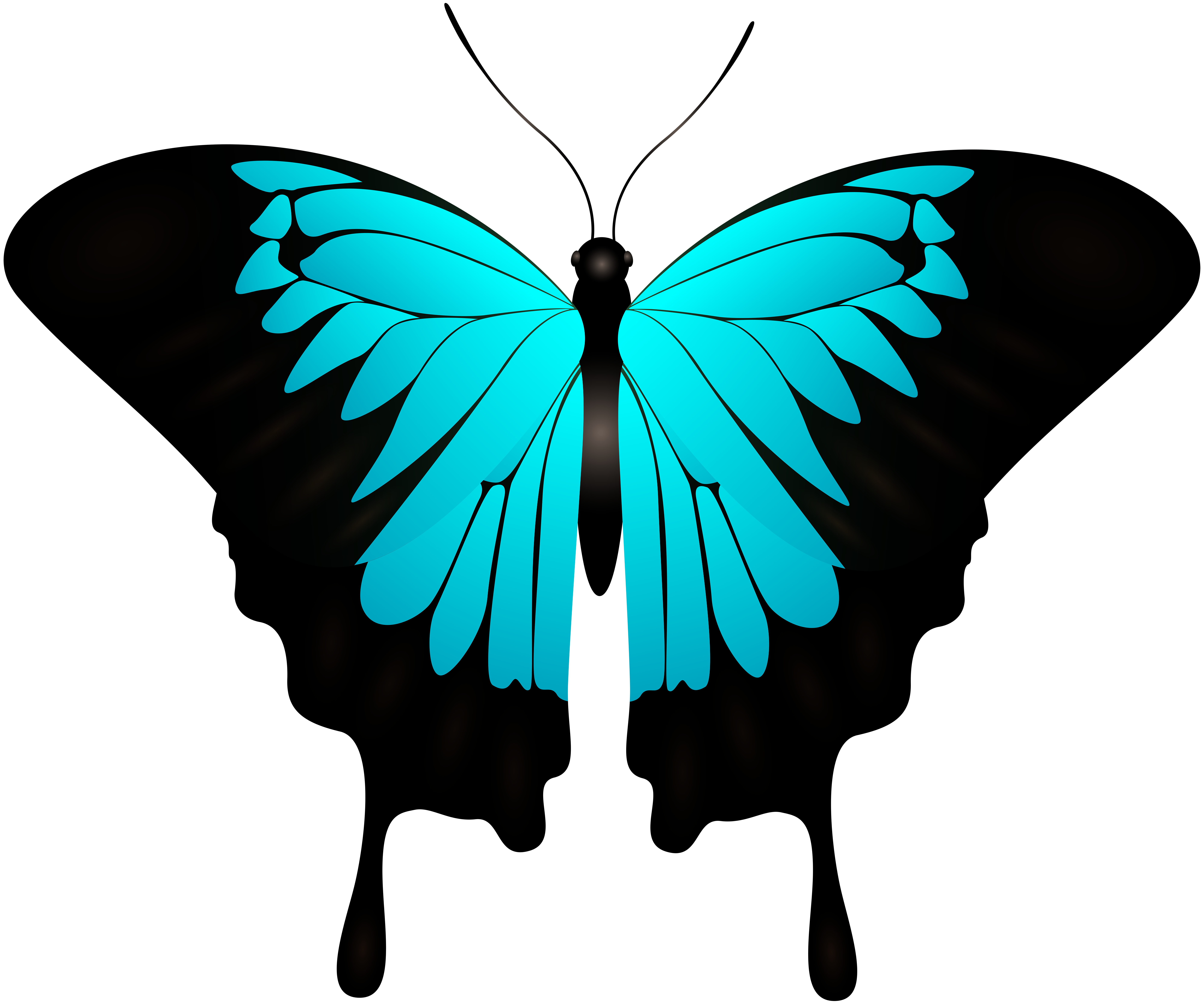 Clipart images of thanksgiving butterflies clip free download Blue Butterfly Decorative Transparent Image | Gallery Yopriceville ... clip free download