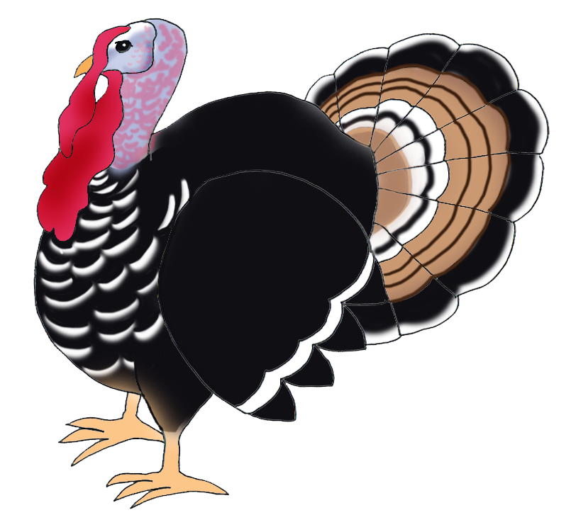 Fat turkey clipart silhouette image transparent download Happy Thanksgiving Clipart image transparent download