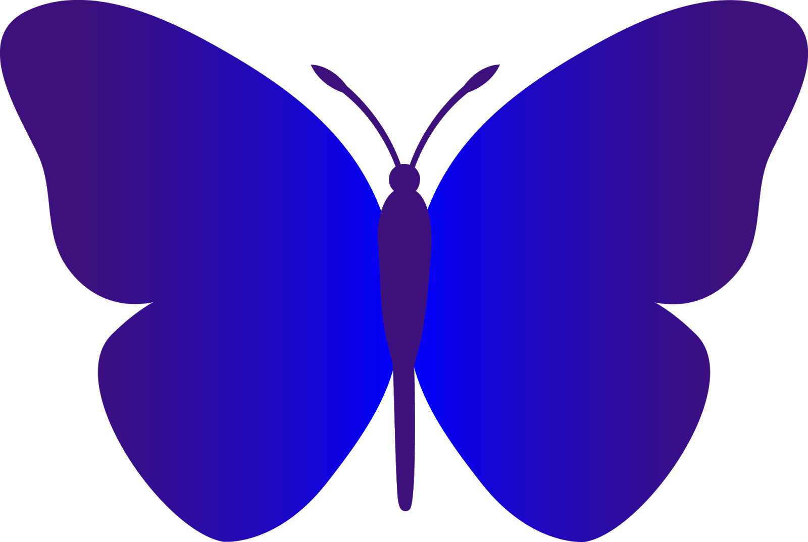 Clipart images of thanksgiving butterflies png free Black and White Butterfly Outline | butterfly simple blue cartoon ... png free