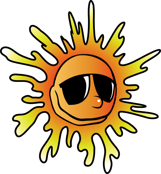 Clipart sun with sunglasses image black and white Sun With Sunglasses Clip Art | Clipart Panda - Free Clipart Images image black and white