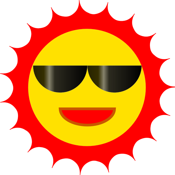Clipart smiling sun image royalty free download Sun With Sunglasses Clipart | Clipart Panda - Free Clipart Images image royalty free download