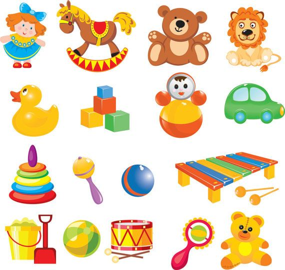 Clipart images of toys clip royalty free download Cartoon Baby Toys Clip Art digital clip art by BrunoStore ... clip royalty free download