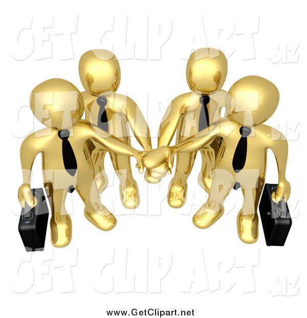 Clipart images teamwork heading for the goal clip download Clip Art of a Team of Four 3d Gold Business People Carrying ... clip download