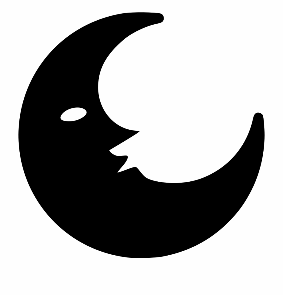 Moon Clipart Transparent Background - Black Moon Png, Png Download ... vector library library