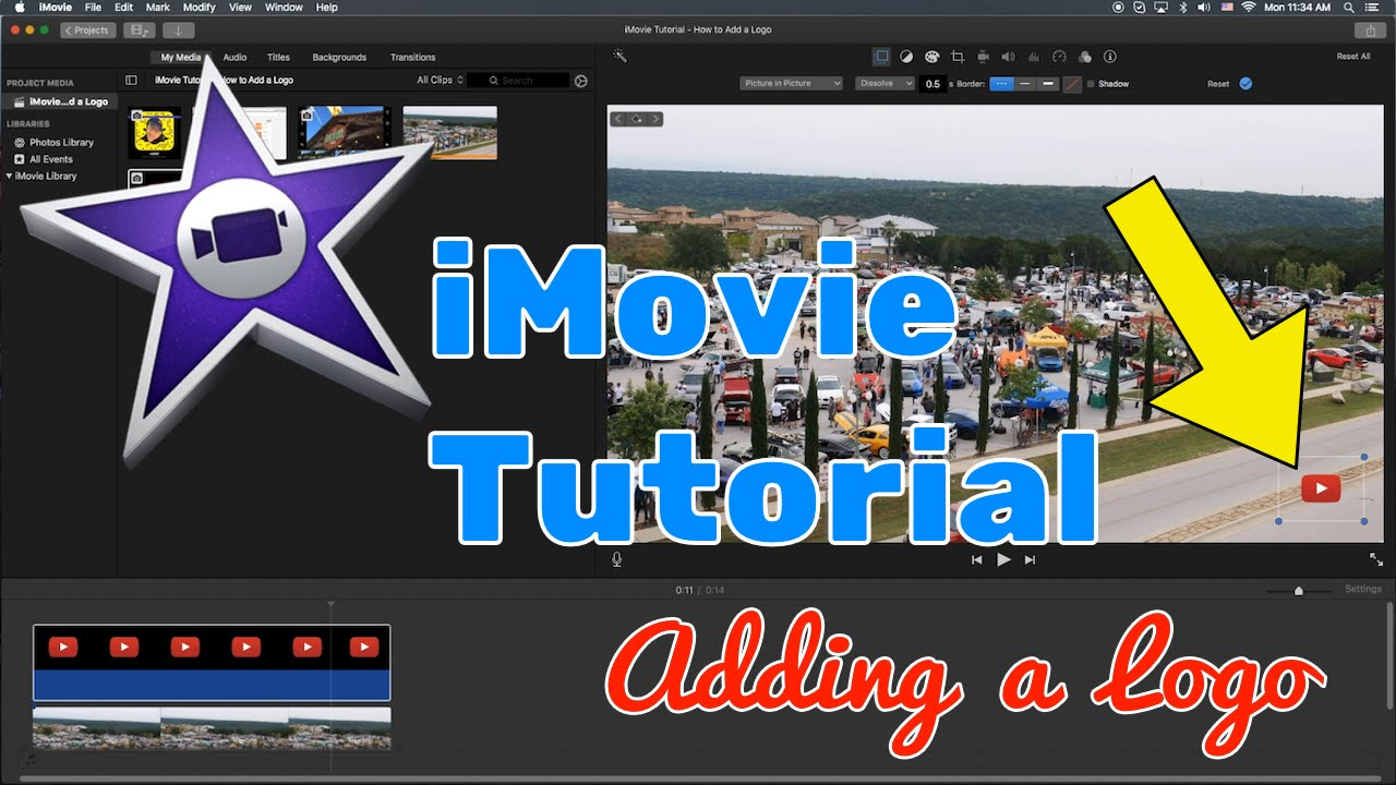 Clipart imovie png library library iMovie Tutorial 2016 - How to Add a Logo to Your Video png library library