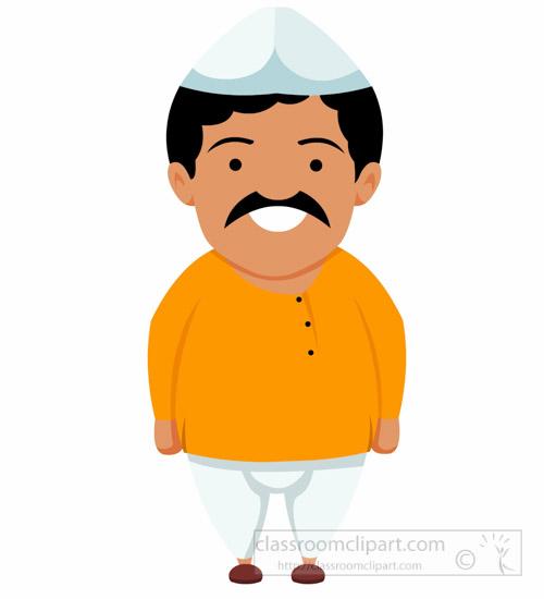 Clipart indian man royalty free Indian Man Wearing Dhoti Kurta Treditional Costume India Clipart ... royalty free
