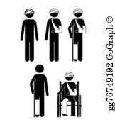 Clipart injured person vector royalty free stock Injured Clip Art - Royalty Free - GoGraph vector royalty free stock