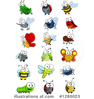 Insect clipart free banner freeuse stock Insects Clipart #1280023 - Illustration by Vector Tradition SM banner freeuse stock