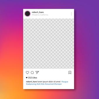 Clipart instagram post