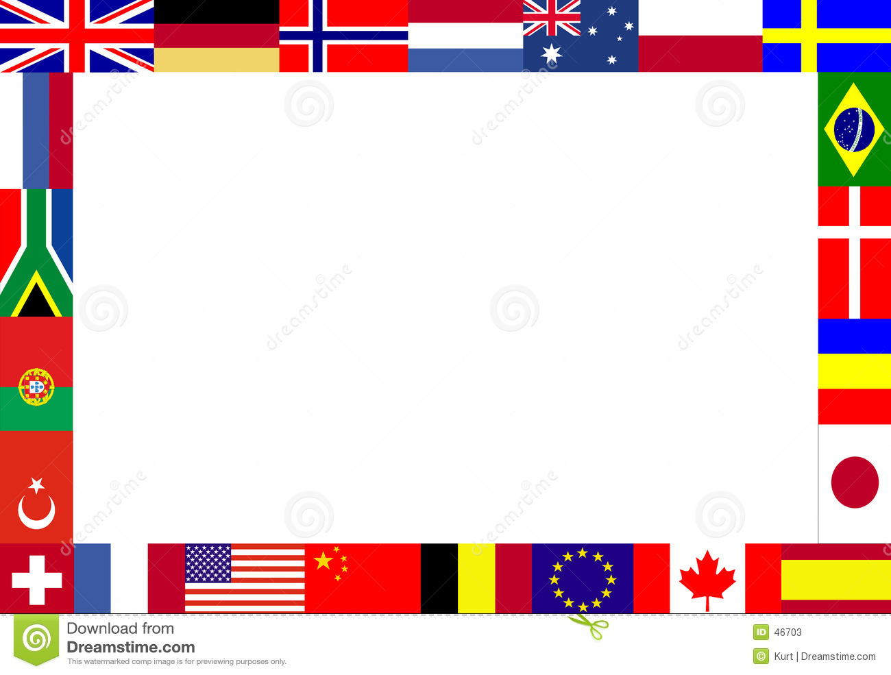 Clipart international flags clip transparent stock Flag Border | printable flags clip transparent stock