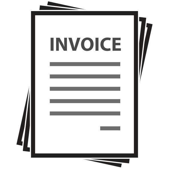 Clipart invoice banner royalty free download Black Line Background clipart - Document, Illustration, White ... banner royalty free download