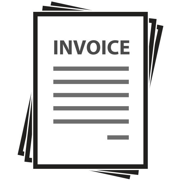 Invoicing clipart jpg freeuse Black Line Background clipart - Document, Illustration, White ... jpg freeuse
