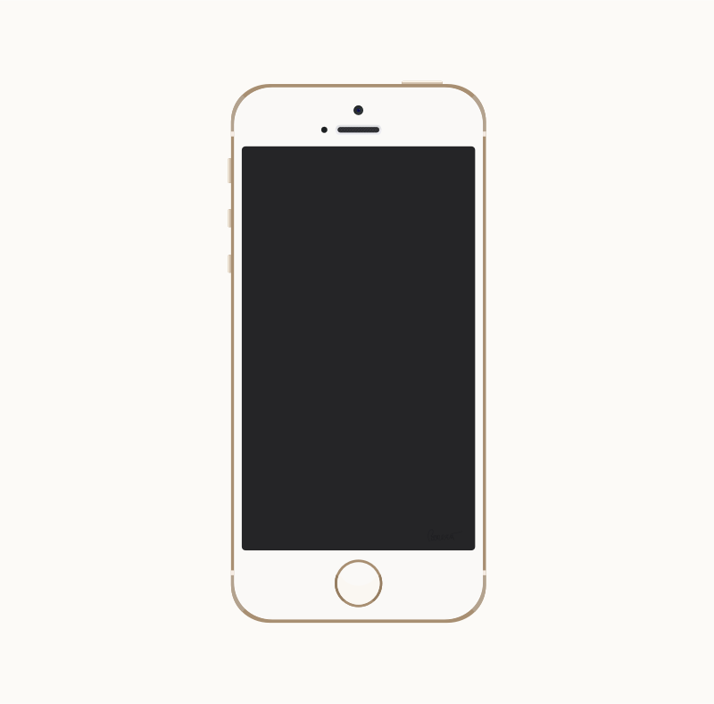 Clipart iphone 6 svg transparent library Iphone 6 Clipart - Clipart Bay svg transparent library