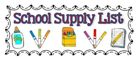 School supplies list clipart svg black and white Parents / School Supply Lists (Kindergarten-5th grade) svg black and white
