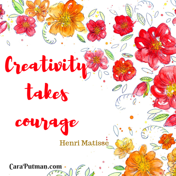 Clipart it takes courage to be imperfect svg royalty free Creativity Requires Courage | caraputman.com svg royalty free