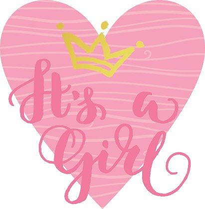 Clipart its a girl png library download It\'s A Girl Card premium clipart - ClipartLogo.com png library download