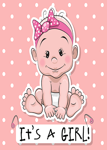 Clipart its a girl clip art royalty free stock It\'s a Girl Announcement   Baby cartoon   Baby cartoon, Baby girl ... clip art royalty free stock