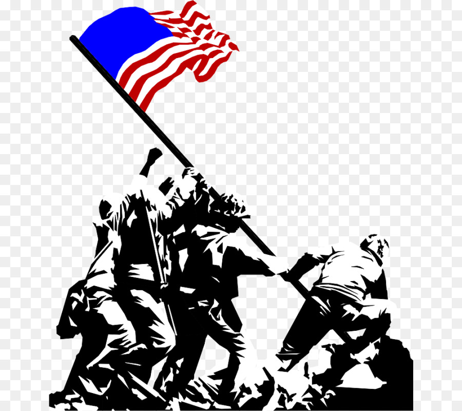 Iwo jima flag raising clipart vector download World Cartoon clipart - Silhouette, Line, Font, transparent clip art vector download