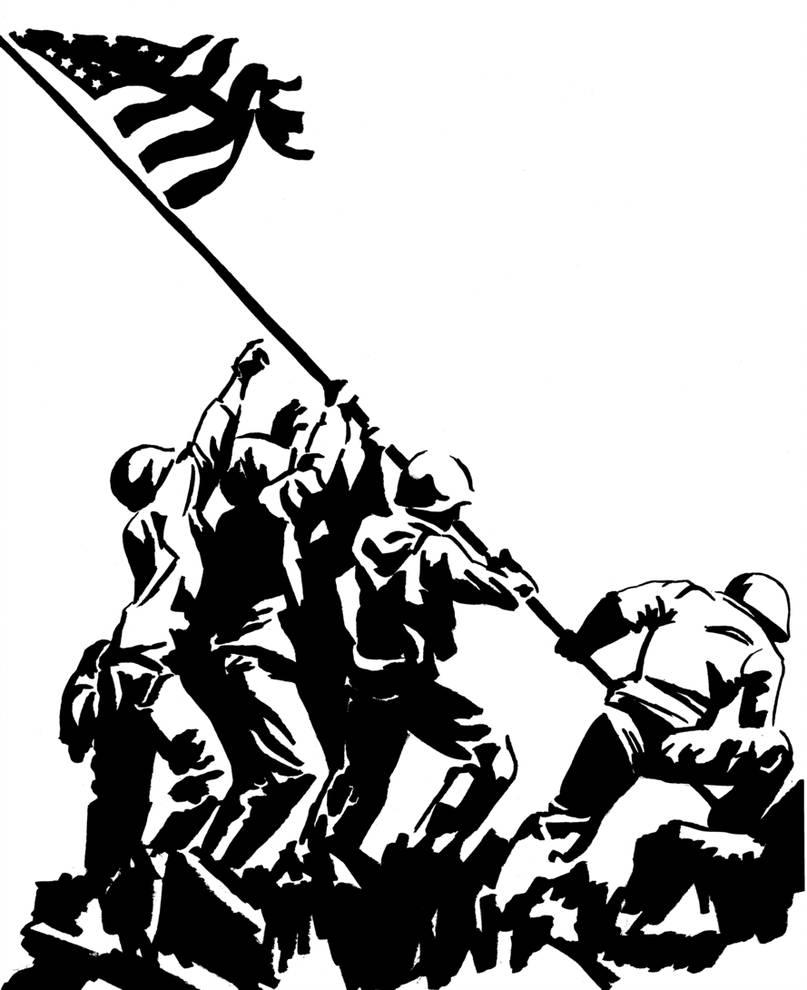 Iwo jima flag raising clipart vector royalty free Iwo Jima Drawing | Free download best Iwo Jima Drawing on ClipArtMag.com vector royalty free