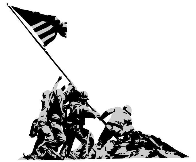 Black and white ww2 clipart svg free 40 Awesome iwo jima silhouette clip art | Iwo Jima memorial | Battle ... svg free