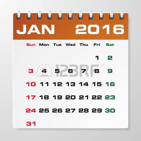 Clipart january 2016 calendars jpg royalty free library 706 Green Thursday Stock Illustrations, Cliparts And Royalty Free ... jpg royalty free library