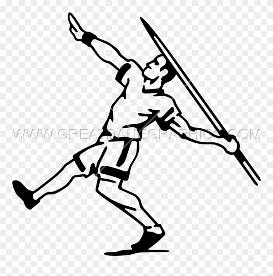 Javelin throw clipart clip art black and white library Javelin Thrower Production Ready Artwork For T - Javelin Throw Clip ... clip art black and white library