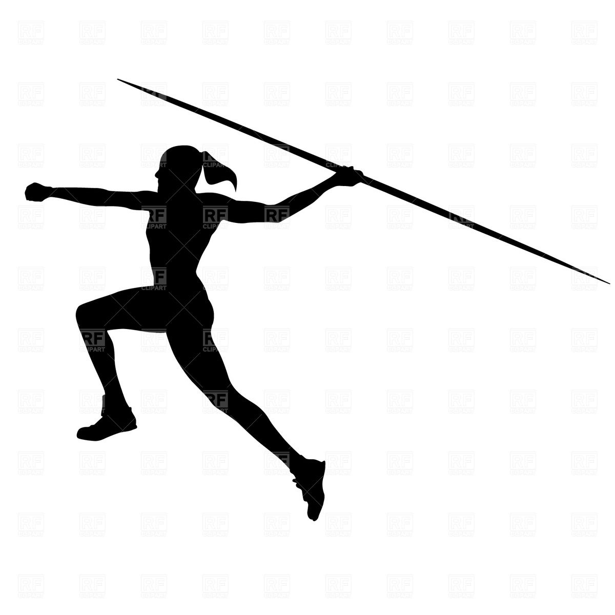 Clipart javeline freeuse stock Women\'s javelin Vector Image – Vector illustration of Sport and ... freeuse stock